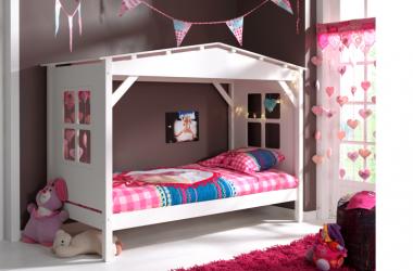 Łóżko domek dla dziecka Pino białe