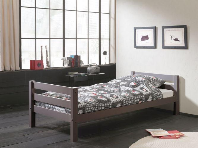 Łóżka pojedyncze sosnowe dla dziecka Pino sosna ciemnoszara