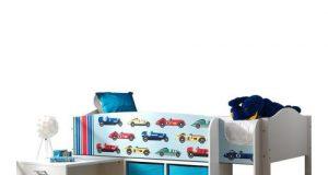 Łóżko piętrowe dziecięce Lollipop - Autka