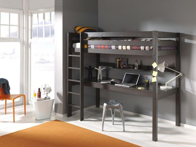 Łóżko piętrowe młodzieżowe z biurkiem Pino