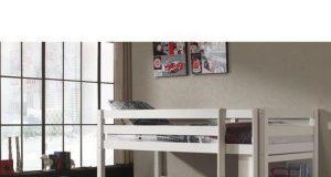 Podwójne łóżko piętrowe dla dzieci Pino - sosna biała
