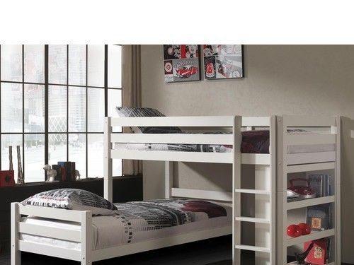 Podwójne łóżko piętrowe dla dzieci Pino – sosna biała