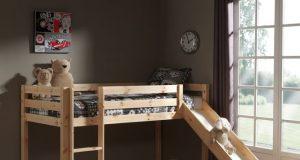 łóżko ze zjeżdżalnią piętrowe Pino - sosna naturalna