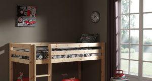 Pojedyncze łóżko piętrowe dla dzieci Pino - sosna naturalna