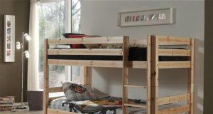 Sosnowe łóżko piętrowe dla dzieci Pino