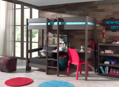 Piętrowe łóżko z biurkiem dla dziecka Pino Sofabed