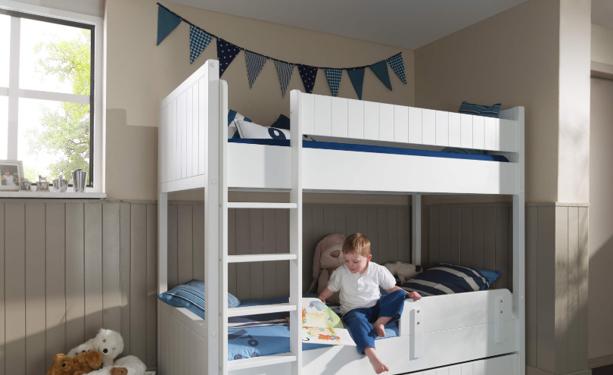 Białe łóżko piętrowe dla dzieci – Robin