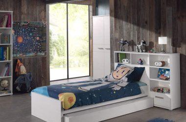 łóżko dziecięce z półkami - Sofie