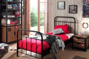 Metalowe łóżko dla chłopca New York czarne