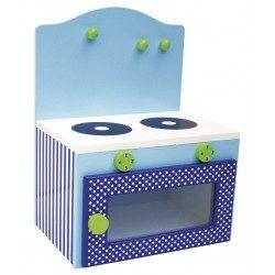 Mała kuchenka dla dzieci niebieska JaBaDaBaDo