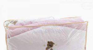 Pościel do łóżeczka 5-elementowa 120x90 różowa