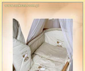 Pościel do łóżeczka 4-elementowa Słodki Sen beżowa