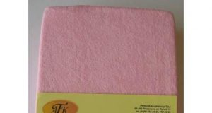 Prześcieradło frotte na gumce 120x60 różowe