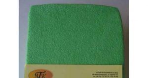 Prześcieradło dziecięce z gumką 120x60 zielone