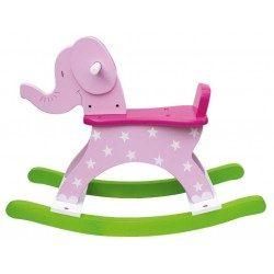 Zabawki na biegunach - różowy słoń