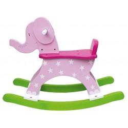 Zabawki na biegunach – różowy słoń