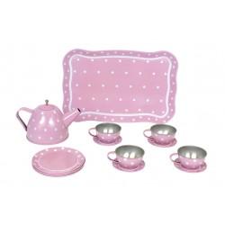 Serwis do herbaty dla lalek różowy