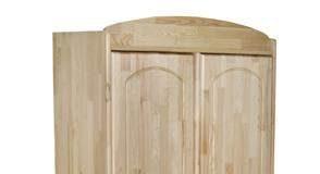 Dziecięca drewniana szafa dwudrzwiowa Kacper