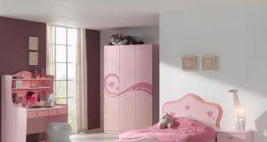 Różowa szafa do pokoju dziewczynki Lizzy
