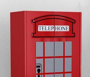 Dziecięca szafa Budka Telefoniczna London