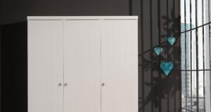 trzydrzwiowa biała szafa dla dziecka ROBIN