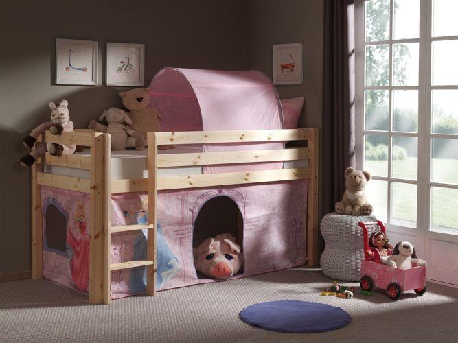 Zestaw tekstyliów do łóżka wysokiego Pino Księżniczki Disneya
