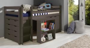 Łóżko pietrowe niskie dla dzieci Pino