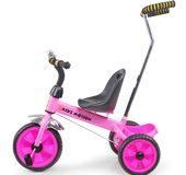 Rowerek dla dwulatka trójkołowy Tobi Basic Kidz Motion różowy
