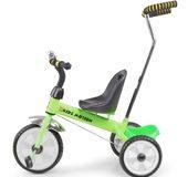 rowerek trójkołowy z pchaczem Tobi Basic Kidz Motion zielony