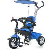 rowerek dla rocznego dziecka trójkołowy Tobi Tech Kidz Motion niebieski