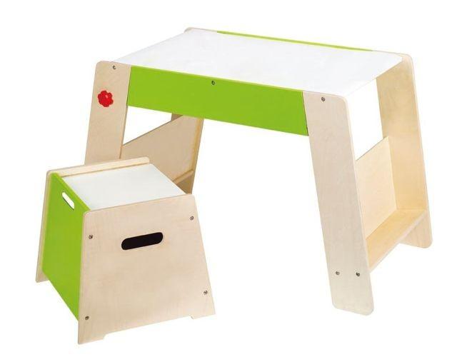 Drewniany stół z krzesłem dla dzieci HAPE