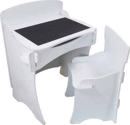 białe biurko małe z krzesłem dla dzieci Kidsaw
