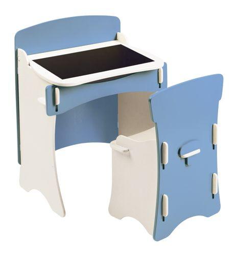 Kidsaw niebieskie biurko i krzesło dla przedszkolaka