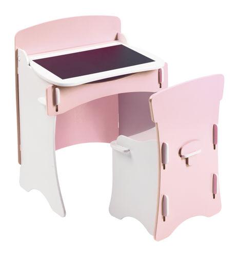 Kidsaw biureczko i krzesło różowe dla dzieci