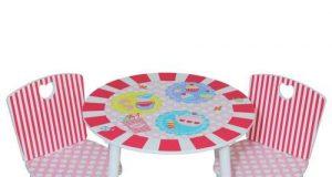 Kidsaw Komplet Stolik i 2 krzesełka dla dziewczynki z serii Patisserie
