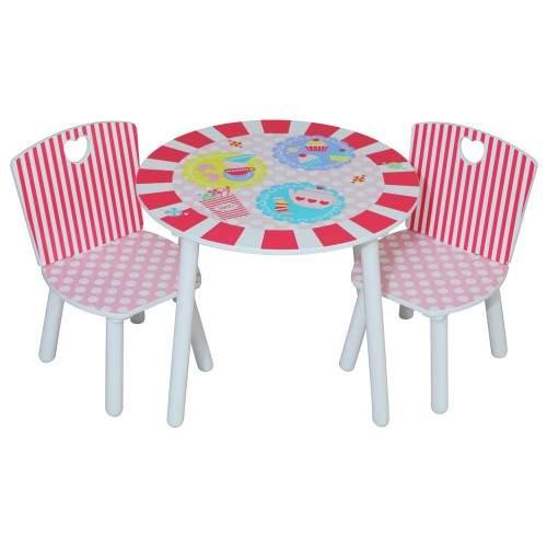 Kidsaw Komplet Stolik I 2 Krzesełka Dla Dziewczynki Z Serii