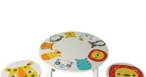 Okrągły stolik z krzesełkami dla dzieci Kidsaw Safari