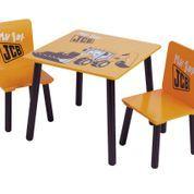 Dziecięcy stolik z krzesłami Komplet Kidsaw Koparka JCB