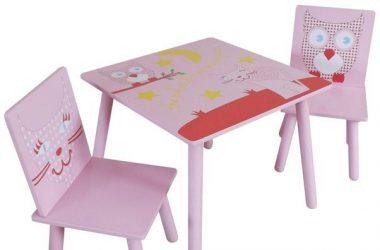 Stolik i krzesełka dla dziewczynki Kidsaw Sowa i Kotek