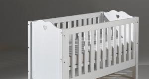 Łóżeczko dla dziecka białe AMORI