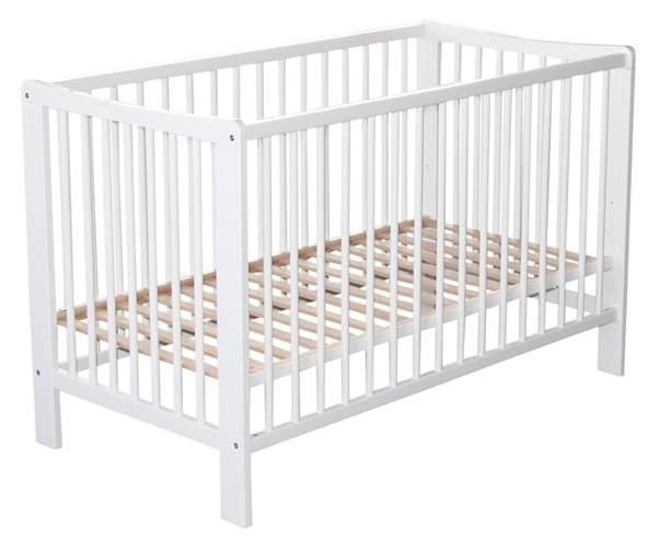 Białe łóżeczko dla dziecka Nico