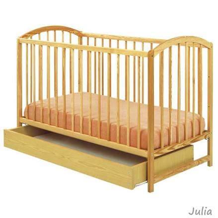 Drewniane łóżeczko 3 poziomowe z szufladą Julia