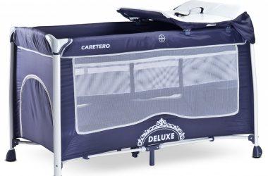 łóżeczko turystyczne z przewijakiem CARETERO DELUXE granatowe