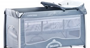Łóżeczko turystyczne z materacem CARETERO DELUXE szare