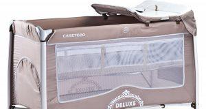 Łóżeczko turystyczne beżowe CARETERO DELUXE