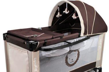 łóżeczko turystyczne dwupoziomowe LIONELO SVEN beżowe