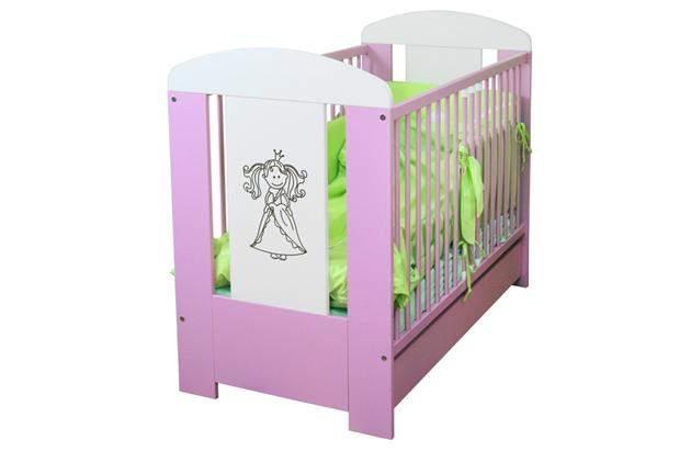 Łóżeczko dla dziewczynki z szufladą Princess