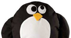 Dekoracyjna poduszka pingwin do pokoju dziecięcego
