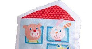 Dekoracyjna poduszka domek dla dzieci