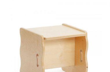 Wielofunkcyjne drewniane krzesło do pokoju dziecięcego
